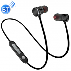 X3 Magnetic Absorption Sweatproof Sports Bluetooth In-Ear Headset with HD Mic, Support Hands-free Calls, Distance: 10m, For i...