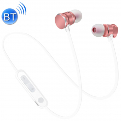 Écouteurs Bluetooth 5.0 Sport Magnetic Intra-Auriculaires Oreillettes Micro HD Mains Libres Smartphone Or Rose