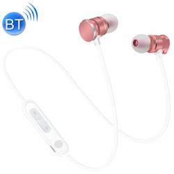 Écouteurs Bluetooth 5.0 Sport Magnetic Intra-Auriculaires Oreillettes Micro HD Mains Libres Smartphone Or Rose - Ecouteurs Bl...