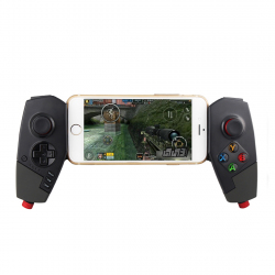 Manette De Jeu Android iOS Gamepad Sans Fil Extensible Bluetooth Téléphones Tablettes Intelligents Noir - - www.yonis-shop.com