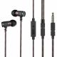 Écouteurs Smartphone Intra-Auriculaires Filaire Jack 3.5mm Micro Bouton Contrôle Réduction Bruit Noir - Ecouteurs - www.yonis...