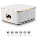 Pico Projecteur Android 5.1 Vidéoprojecteur DLP Bluetooth 1 Go + 8 Go Quad Core Miracast Airplay Wifi Blanc - Pico projecteur...