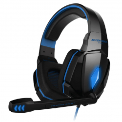 Casque Gamer PC Oreillettes Ordinateur USB 7.1 Surround Vibration Micro Rétractable LED Noir Bleu