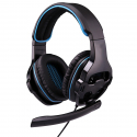 Casque Gamer PC Laptop PS4 Filaire Jack 3.5mm Antibruit Micro Omnidirectionnel Noir Bleu - Casque Gamer - www.yonis-shop.com