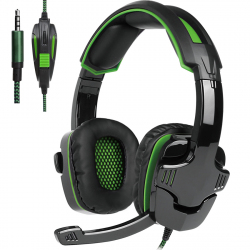 SADES SA-930 3.5mm Gaming Headset Wired Headphone with Wire Control + Mic for PS4, PC, Laptop, Mobile Phones (Green) - - www...