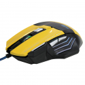 7 Buttons with Scroll Wheel 5000 DPI LED Wired Optical Gaming Mouse for Computer PC Laptop(Yellow) - A copier contenu web 04-...