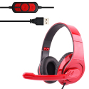 OVLENG Q8 Universal Stereo Headset with Mic & Volume Control Key for All Audio Devices, Cable Length: 2m(Red) - A copier cont...