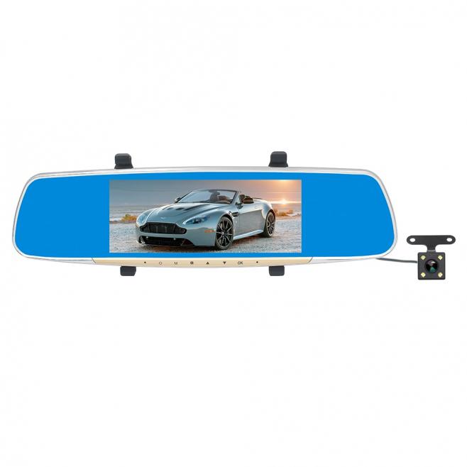 Caméra Voiture Recul Dashcam 1080P Écran Tactile LCD 7 Pouces Double Caméras Angle 170 Degrés Vision Nuit Gris - Dashcam - ww...