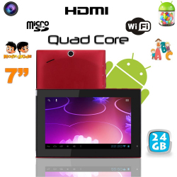 Tablette tactile Android 4.1 7 pouces Quad Core éducative WIFI 24 Go