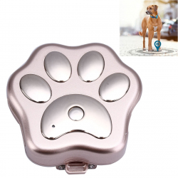 Traceur GPS Étanche Anti-Perte Chien Chat Micro Espion Tracker Animal Compagnie WIFI Or Rose