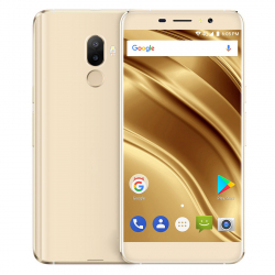 Smartphone Android 7.0 Dual SIM 4G 5.3 Pouces Empreintes Digitales Quad Core 2GB+16GB Or