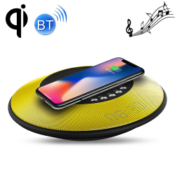 Chargeur Rapide Sans Fil Enceinte Bluetooth NFC Sans Contact iPhone Samsung Galaxy Huawei Jaune