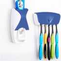 Distributeur Dentifrice Automatique Mural Porte Brosses A Dents 5 Places Bleu - Distributeur de dentifrice - www.yonis-shop.com