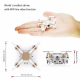 Mini Drone Compatible Android iOS Quadcopter Radiocommandé 4 Hélices Gyroscope 6 Axes Caméra 0.3 MP Or Rose - Jouet radiocomm...