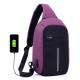 Sac à Dos USB Chargement Externe Etudiant Cartable Ecole Anti Vol Multi Fonctions Homme Femme Violet Noir - Sac à dos ordinat...