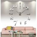 Horloge Miroir DIY Créative 3D A Monter Soi-Même Autocollants Mur 120 x 120 cm Blanc - Horloge - www.yonis-shop.com
