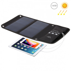 HAWEEL 14W Foldable Solar Panel Charger with Dual USB Ports - - www.yonis-shop.com