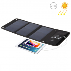 HAWEEL 21W Foldable Solar Panel Charger with Dual USB Ports - A copier contenu web 04-2019 - www.yonis-shop.com