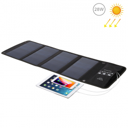 HAWEEL 28W Foldable Solar Panel Charger with Dual USB Ports - A copier contenu web 04-2019 - www.yonis-shop.com