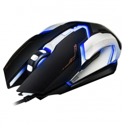 iMICE V6 LED Colorful Light USB 6 Buttons 3200 DPI Wired Optical Gaming Mouse for Computer PC Laptop(Black) - - www.yonis-sh...