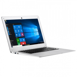 Ordinateur Portable Windows 10 Netbook Écran FHD 14,1 Pouces Quad Core 1,44 GHz Carte SD HDMI Argent