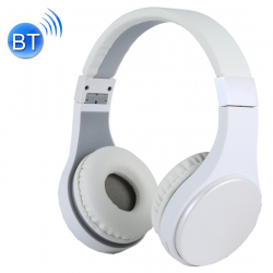 Casque Bluetooth Sans Fil Stéréo iPhone Android Smartphone Mains Libres MP3 Carte Micro SD Blanc