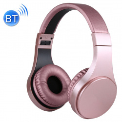Casque Bluetooth Sans Fil Stéréo iPhone Android Smartphone Mains Libres MP3 Carte Micro SD Rose
