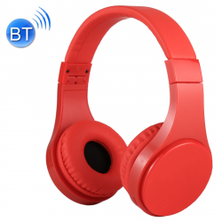 Casque Bluetooth Sans Fil Stéréo iPhone Android Smartphone Mains Libres MP3 Carte Micro SD Rouge