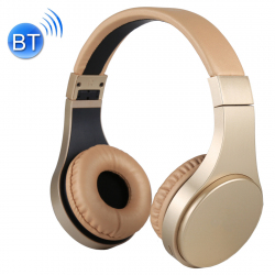 Casque Bluetooth Sans Fil Stéréo iPhone Android Smartphone Mains Libres MP3 Carte Micro SD Or