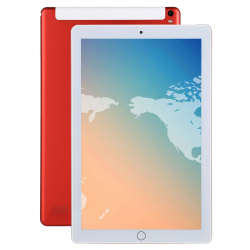 Tablette Android 5.1 Écran 10.1 Pouces 1280 x 800 Dual SIM 3G WiFi Bluetooth Rouge - - www.yonis-shop.com