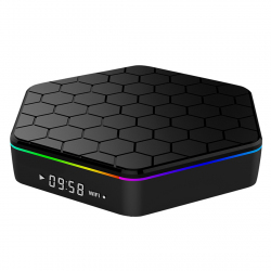 TV Box Android 6.0 UHD Octa Core 2.0 GHz Hexagone Affichage LED 4K Wifi 3D Bluetooth 2GB+8GB Noir - Box TV Android - www.yoni...