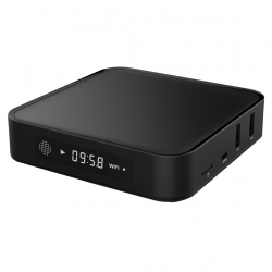 TV Box Android 5.1 UHD Quad Core 2.0 GHz Affichage LED 1 Go RAM 8 Go ROM 4K Support Wifi SD Noir