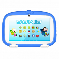 Tablette Enfant YOKID Educative Android 6.0 Ecran 7 Pouces Tactile Quad Core 1GB+8GB Bluetooth Bleu - Tablette tactile enfant...