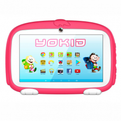 Tablette Enfant YOKID Educative Android 6.0 Ecran 7 Pouces Tactile Quad Core 1GB+8GB Bluetooth Rose - Tablette tactile enfant...