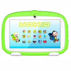 Tablette Enfant YOKID Educative Android 6.0 Ecran 7 Pouces Tactile Quad Core 1GB+8GB Bluetooth Vert - Tablette tactile enfant...