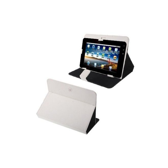 Housse universelle tablette tactile 10.1 pouces support étui Blanc - Housse tablette - www.yonis-shop.com