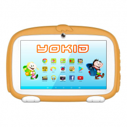 Tablette Enfant YOKID Educative Android 6.0 Ecran 7 Pouces Tactile Quad Core 1GB+8GB Bluetooth Orange - Tablette tactile enfa...