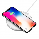 Chargeur Sans-Fil Qi Ultra-Fin Support Charge Rapide Compatible Smartphone Android iPhone Blanc - Chargeur sans fil - www.yon...