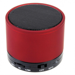 Mini Enceinte Bluetooth universelle smartphone kit mains-libres Rouge