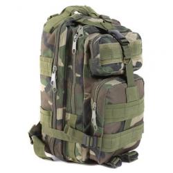 Sac à Dos Tactique Militaire Randonnée Nylon Imperméable Camouflage Vert Foncé