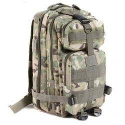 Sac à Dos Tactique Militaire Randonnée Nylon Imperméable Camouflage Vert Clair