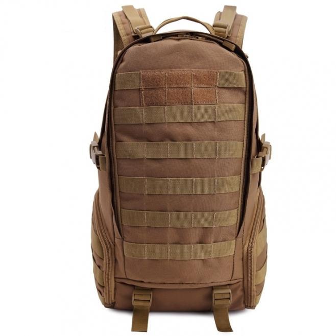 Sac À Dos Tactique Style Militaire Unisexe Randonnée Bretelles Réglables Tissu Oxford 900D Marron - Sac à dos ordinateur - ww...