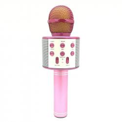 Microphone Android iOS Karaoké Bluetooth Fréquence 10 kHz Puissance 5W Enregistreur Rose