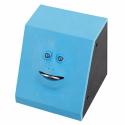 Tirelire Boîte Économie Monnaie Automatique Forme Visage Mignon ABS Haute Qualité Capteur Sensoriel Bleu - Tirelire - www.yon...