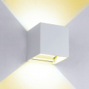 Applique murale LED 6W lumière blanche chaude en aluminium de Shell Dimmable de en de mur de COB, décorative extérieure & d'i...