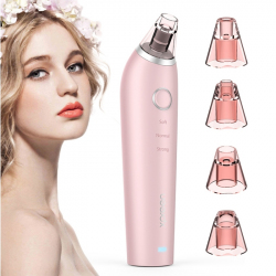 Aspirateur Points Noirs Extracteur Rechargeable Microcristalline IPL Anti-Pore LED Soin Visage Rose