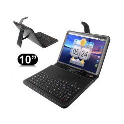 Housse clavier universelle 10 ou 10.1 pouces micro USB support - Housse tablette - www.yonis-shop.com
