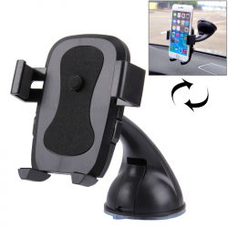 Support Voiture Téléphone iPhone Galaxy Huawei LG HTC Samsung Stabilisateur ABS 60-95 mm Noir - Support smartphone - www.yoni...