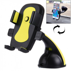 Support Voiture Téléphone iPhone Galaxy Huawei LG HTC Samsung Stabilisateur ABS 60-95 mm Jaune - Support smartphone - www.yon...