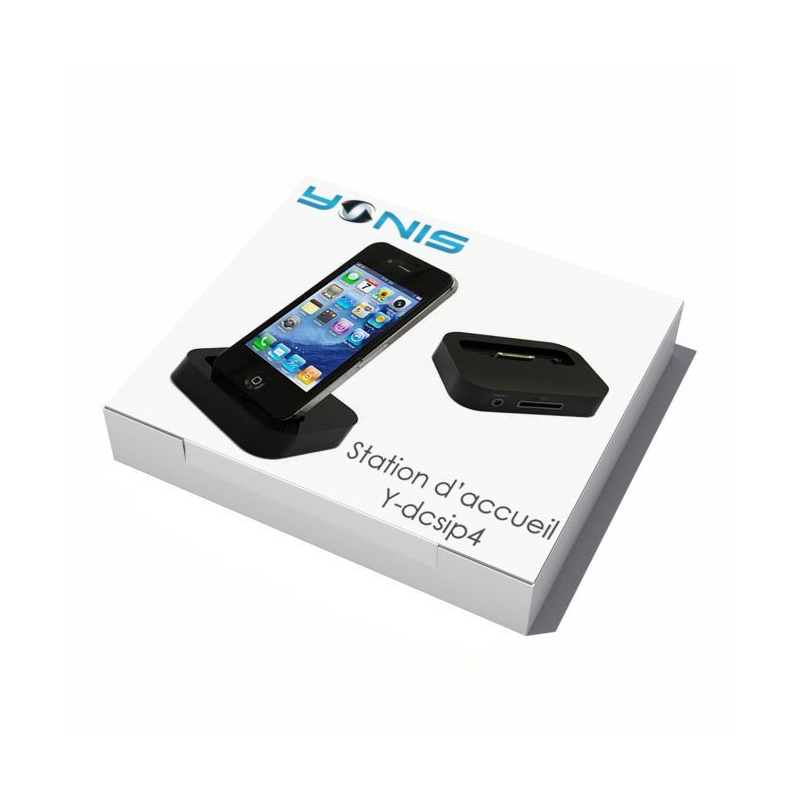 station d 39 accueil dock de synchronisation chargeur iphone 4 4s noir. Black Bedroom Furniture Sets. Home Design Ideas